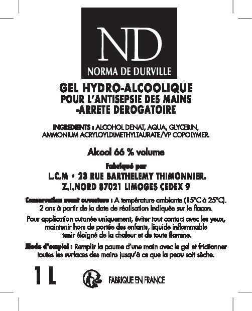 THERA ESTHETIQUE Grossiste En Produit Esthetique Bretagne 30644 Etiquette 1L V2 GEL HYDRO ALCOOLIQUE